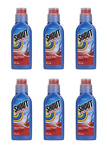 Shout Advanced Ultra Concentrated Gel Set-In Stain Brush Laundry Stain Remover, 8.7 oz (Pack of 6)