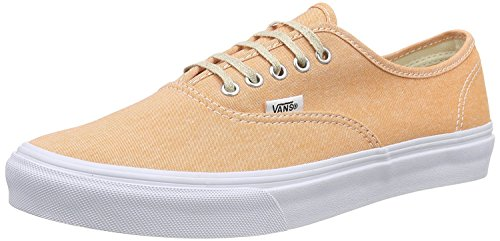 Vans Authentic Slim (Chambray Coral/True White) Women's Shoes-6 by Vans