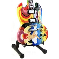 Eric Clapton Miniature Guitar - Gibson SG - The Fool - Wood Replica 10 Inches