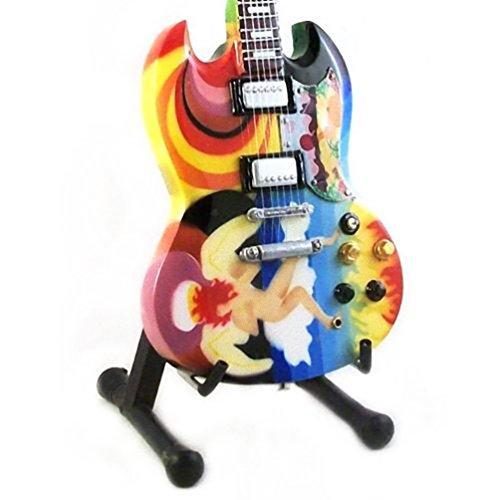 - Eric Clapton Miniature Guitar - Gibson SG- The Fool - Wood Replica 10 Inches