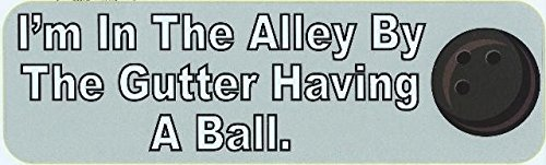 Alley Tee - 10in x 3in the Alley Bowling Bumper magnet magnetic magnet Car by StickerTalk