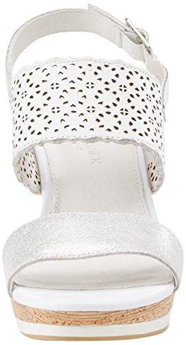 white Alla silver Cinturino Erin Donna Caviglia Bianco Sandali Con Lumberjack IqFH8w