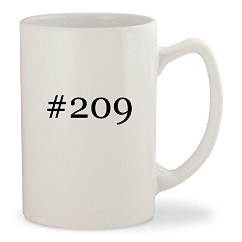 #209 - White Hashtag 14oz Ceramic Statesman Coffee Mug Cup