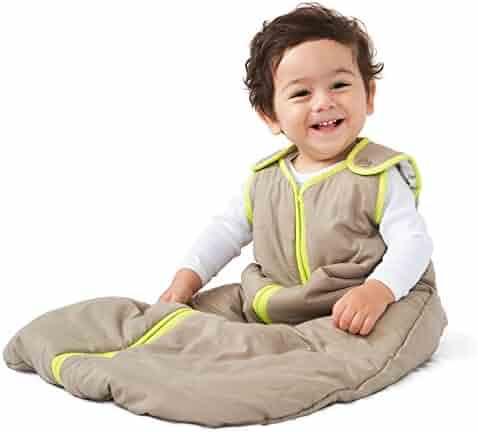 Baby Deedee Sleep Nest Baby Sleeping Bag, Khaki/Lime Green, Large (18-36 Months)