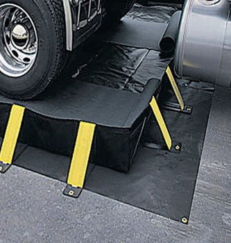 New Pig PAK594 - Collapse-A-Tainer Ground Tarp, Material: Vinyl, Length: 11ft, Width: 11ft