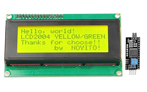 2004 Laser - NOYITO 2004 20x4 LCD Module Shield Blue Backlight with IIC I2C Driver Serial Interface for Arduino UNO R3 MEGA2560 (Blue Backlight)