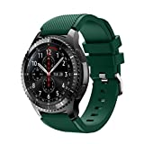 For Samsung Gear S3 Frontier New Fashion Sports Silicone Bracelet Strap Band,Outsta Watch Band Wrist Strap Watch Accessories Bracelet Best Gift 22mm (Army Green)