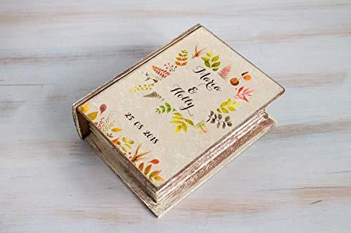 (Personalized wedding box, Fall ring box, Save the Date Wedding Ring Box, Autumn Ring Bearer Box, Floral Wedding Box, Custom Wedding Box, Sunflowers Keepsake Box, Wedding)