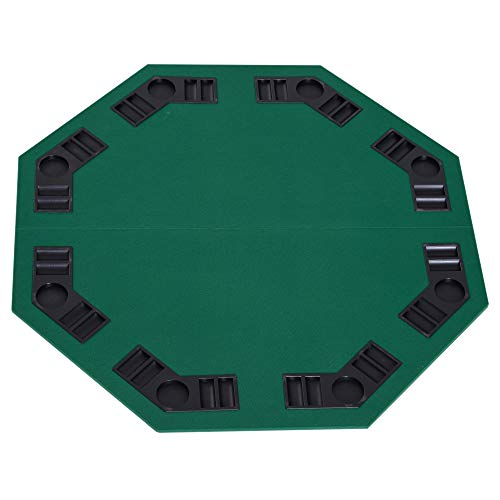 HomCom Deluxe Foldable Poker Card Game Tabletop with Carrying Bag (Best Tabletop Card Games)