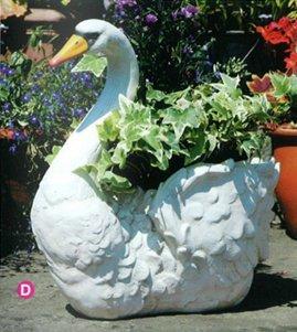 Swan Planter Garden Ornament Amazon Co Uk Garden Outdoors
