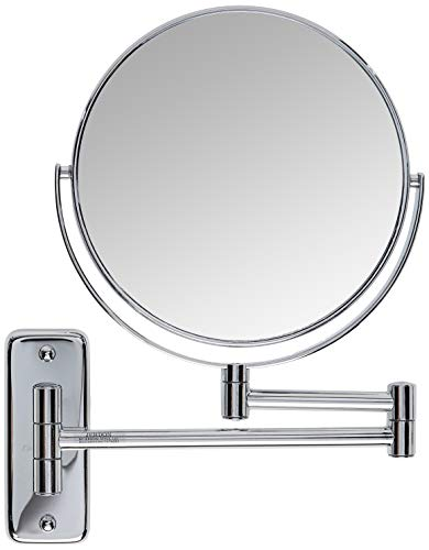 Jerdon JP7808C 8-Inch Wall Mount Makeup Mirror with 8x Magnification, Chrome Finish