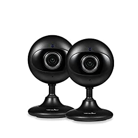 Wansview Home Security Camera, 720P WiFi Wireless IP Camera for Baby /Elder/ Pet/Nanny Monitor Two-Way Audio & Night Vision K2- 2 packs (Black)