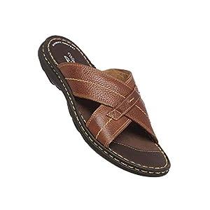 Clarks Men's Tolleson Cross Leather Flat Sandal