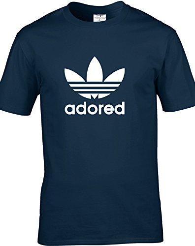 Eat Sleep Shop Repeat Herren T-Shirt blau marineblau