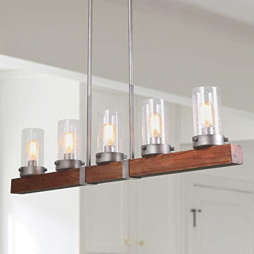 Farmhouse Wood Chandelier