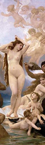 William-Adolphe Bouguereau Poster Photo Wallpaper - The Birth of Venus, 1879, 1 Part (98 x 31 inches) (Cherub Wallpaper)