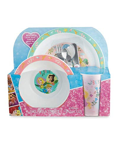 KIDS Official Disney Princess 3 Piece Dining Set!! Complete with Plate, Bowl & Tumbler/Beaker.