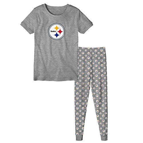 Outerstuff Pittsburgh Steelers Youth NFL Playoff Bound Pajama T-shirt & Sleep Pant -