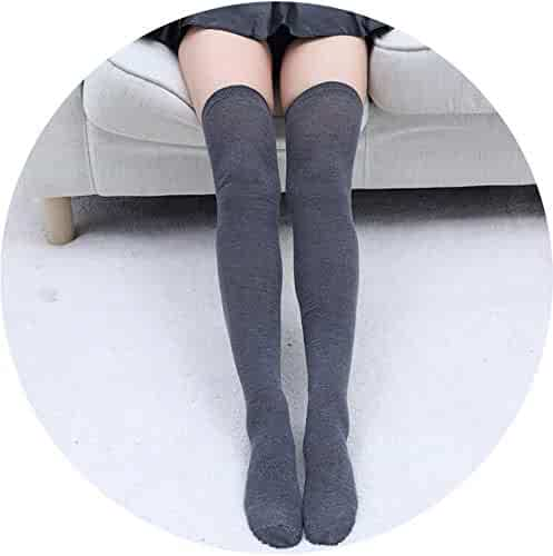 f5b3c3ada59f9 1 Pair Cutton Stripe Stockings Girls korean japanese kawaii lolita Socks  Casual Thigh High Knee Socks