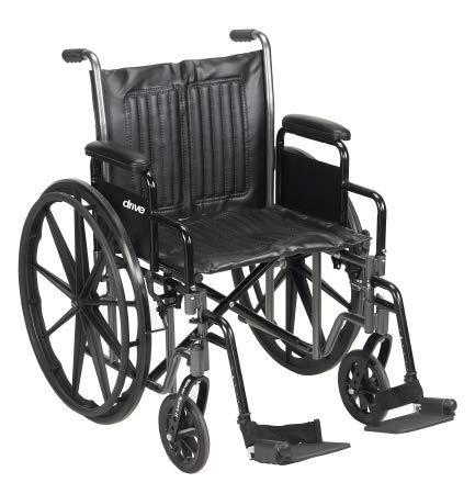 McKesson Standard Wheelchair with Swing Away Footrests - Swing-Away Footrests, 20'' Seat, 350 Lbs. Capacity - 62164201 by McKesson