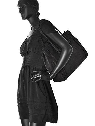 Sac Shopping Natural Cuir femme noir