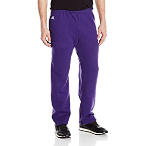 Russell Athletic Men's Dri-Power Fleece Open Bottom Pant, Purple, Large
