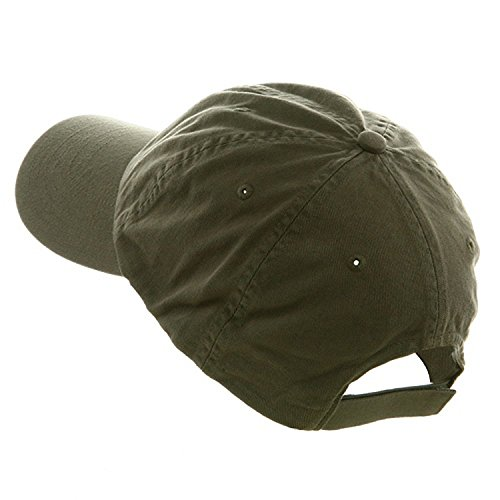 MG Unisex Low Profile Dyed Cotton Twill Cap Velcro Closure OLIVE