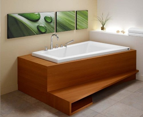Corner Combo Air Whirlpool Tub - Neptune Bora Corner Mass-air/Whirlpool Combo Tub-59-3/4