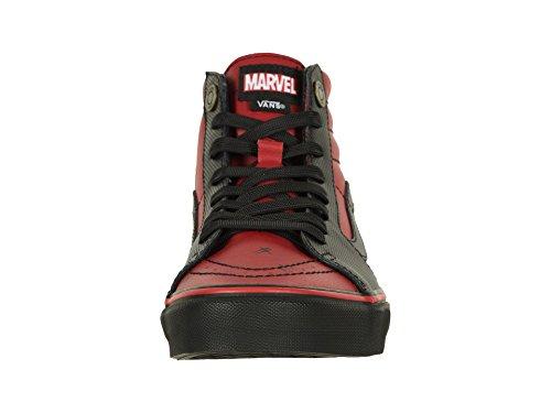 Vans Unisex X Marvel SK8-Hi Skate Shoes (11 Women / 9.5 Men M US, Deadpool Black) by Vans (Image #4)