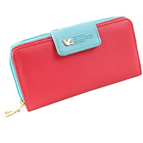 Red Metal and PU Leather Credit Card/Business Card Holder - 7