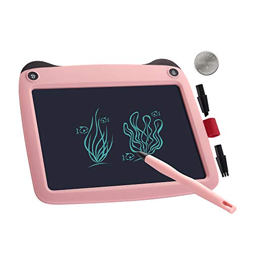 LCD Writing Tablet,9 inch Panda Intelligent Magic Sketch Board with Changleable Pen,Office Message Board,Drawing Board Gift for Kids and Adults at Home,School and Office (Pink)