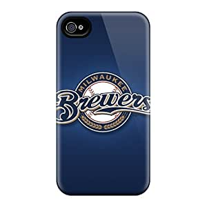 New Shockproof Protection Case Cover For Iphone 4/4s/ Milwaukee Brewers Case Cover