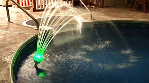 Magic Pool Fountain Water Powered Fountain with Multicolor LED Lights