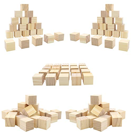 (50pc) Blank Real Wood Natural Alphabet Blocks for Crafts Painting Wood Burning Engraving Weddings Parties Unfinished and Unpainted Wooden 1.5
