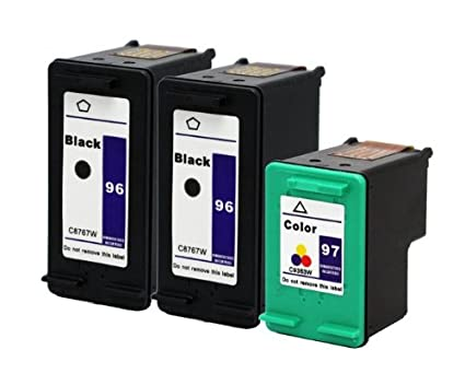 3pk Axiom (TM) REMANUFACTURADO compatible HP 96 97 de tinta para ...