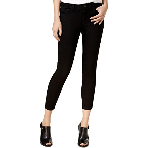 Tommy Hilfiger Womens Greenwich Cropped Twill Skinny Jeans Black 4 (Black Twill Jeans)