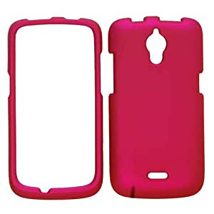 RUBBERIZED COVER FOR HUAWEI ASCEND Y301 / MARINA H882L CASE FACEPLATE HARD PLASTIC NON SLIP HOT PINK A008-E CELL PHONE ACCESSORY