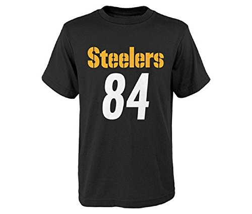 Antonio Brown Pittsburgh Steelers #84 NFL Youth Performance Mainliner Name & Number T-Shirt (Youth Small 8), - Jersey Pittsburgh Football Steelers Nfl