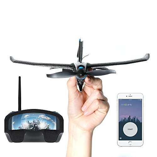 SmartPlane Pro FPV - Smartphone Controlled VR plane - remote controlled drone for iOS & Android with joystick, rc plane for beginners, adults, kids, very durable, crash-proof