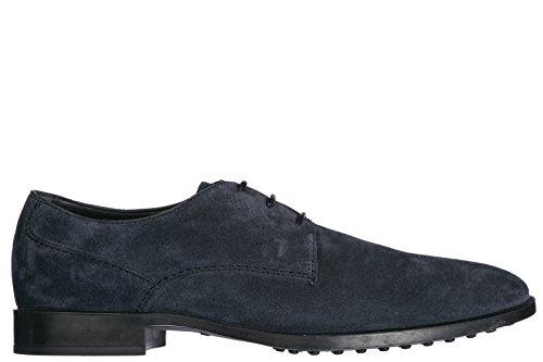 Tods Herrenschuhe Wildleder Business Schuhe Herren Schnürschuhe Derby Blu