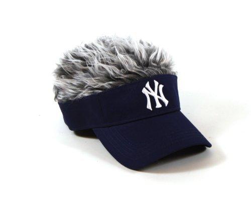 Flair Hair Hat (MLB New York Yankees Flair Hair Adjustable Visor, Navy)