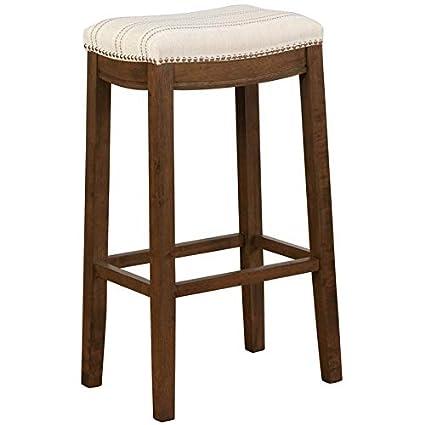 Peachy Amazon Com Linon Claridge Bar Stool In Natural Kitchen Unemploymentrelief Wooden Chair Designs For Living Room Unemploymentrelieforg