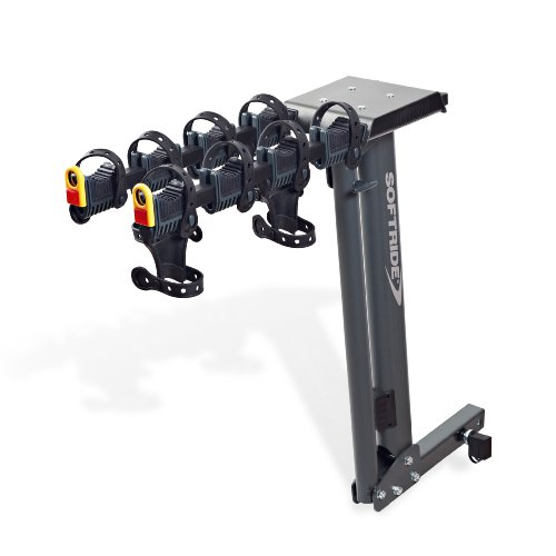Softride Dura 4-Bike Rack, Premium locking Hitch Mounted Carrier for 2