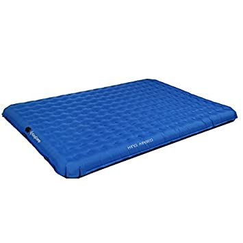 KingCamp Camping Sleeping Air Mat -2 Person Inflatable Double PVC Free Air Bed Pad with Battery Operated Pump, Suitable for Traveling Hiking Outdoor Activities