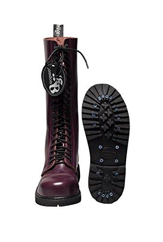 COMBAT Chaussures Gothique 20 acier différentes embout Trous tailles avec Bottes DE en BOTTES Bordeaux noir Knightsbridge qSgBw