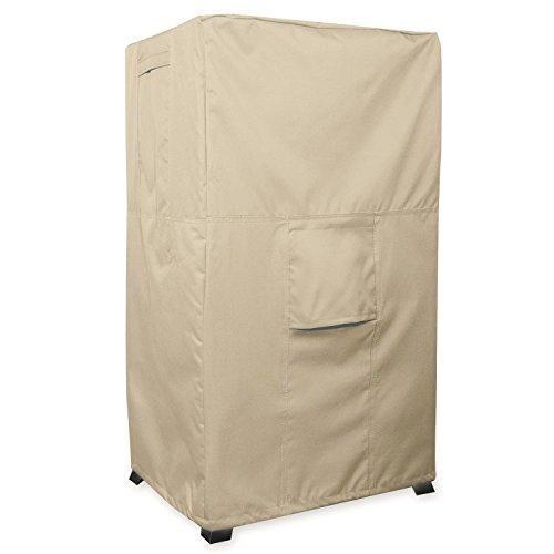 KHOMO GEAR - SAHARA Series - Heavy Duty Outdoor Beige Smoker Cover 17 x 20 x 35.5