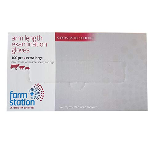 Polythene Arm Length Veterinary Disposable Gloves, PLG/100 (Box of 100) Fearing