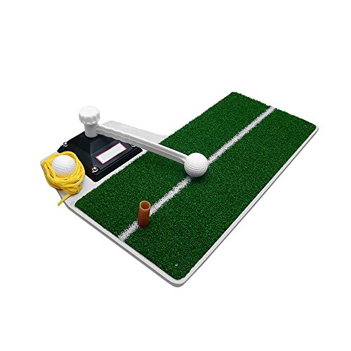 High-end golf swing exerciser, indoor golf mat,hitting mat,rotating stick, yellow ball, TEE three kinds of practice, no need to pick up the ball, multi-function beginners must, 18.5inch13.4inch
