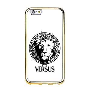 Versace Cover Shell Unique VERSUS Versace Logo TPU Gold Frame Mobile Phone Case Snap On Apple Iphone 6/6S (4.7 inch)