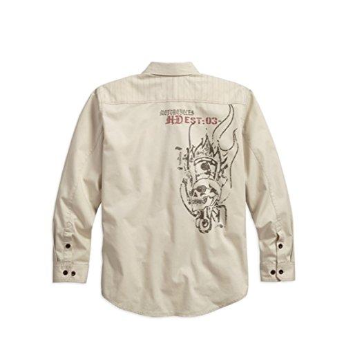 Harley-Davidson Stitched Yoke Twill Shirt 96406-17VM Herren Shirt